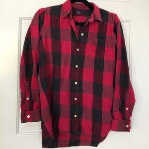 gap black & red flannel